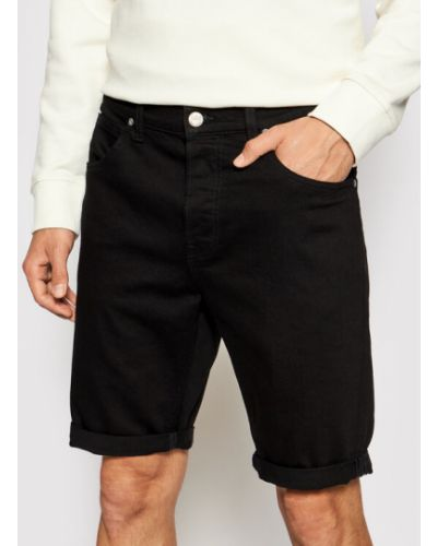 Szorty jeansowe - czarne Lee