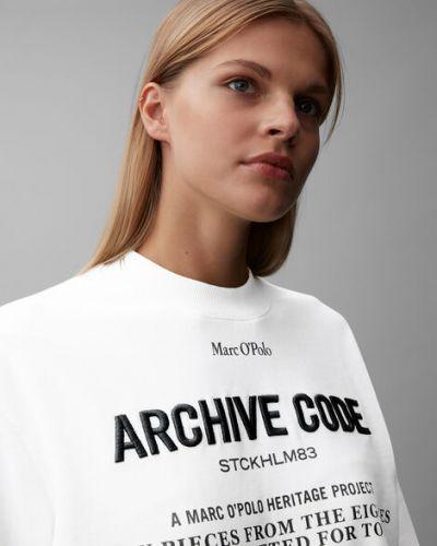 Bawełna bawełna biały bluzka zabytkowe Marc O Polo