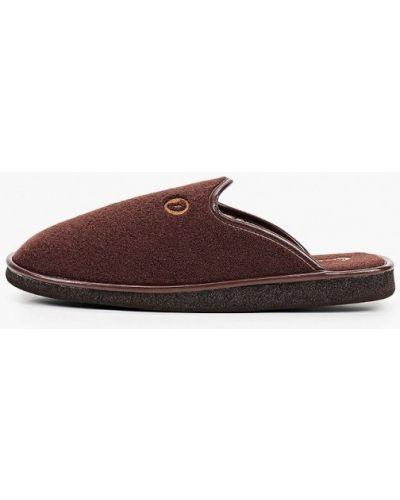 Текстильные тапочки - коричневые Costa