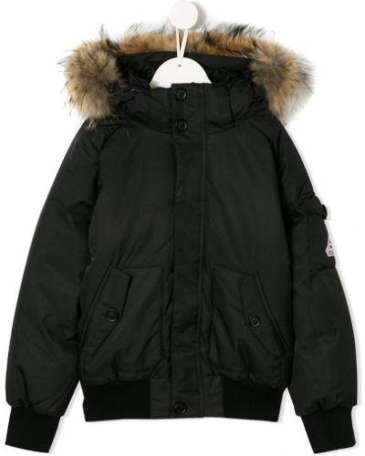 Куртка черная с заплатками Pyrenex Kids