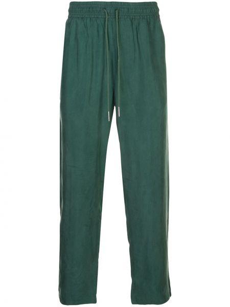Zielone spodnie z wiskozy Rochambeau