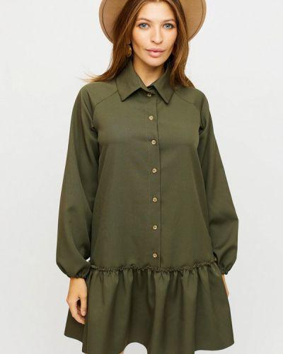 Зеленое платье-рубашка Karree