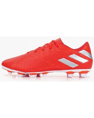 Бутсы искусственный красный Adidas