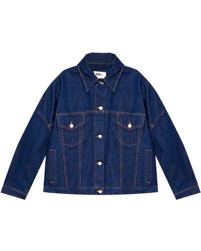 Джинсовая куртка оверсайз на пуговицах Mm6 Maison Margiela