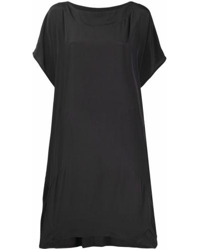 Шелковое серое с рукавами платье мини SociÉtÉ Anonyme