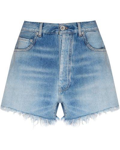Джинсовые шорты с карманами синий Unravel Project