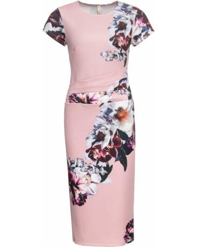 Деловое платье с цветочным принтом классическое Bonprix