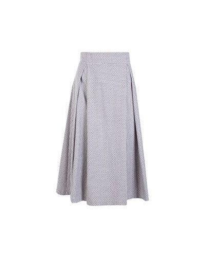 Розовая повседневная хлопковая юбка миди Vuall
