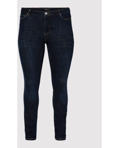 Mom jeans granatowe Vero Moda Curve