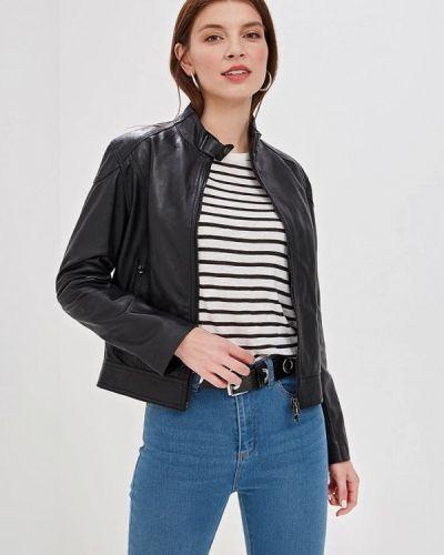 Кожаная куртка черная осенняя Ne.ra Collezioni