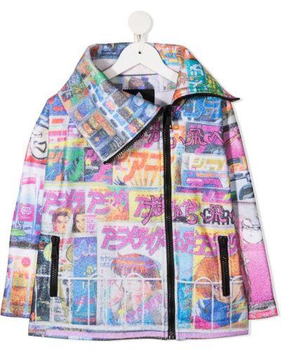 Асимметричное белое длинное пальто с карманами Duoltd