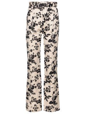 Джинсовые прямые джинсы - бежевые Rodarte