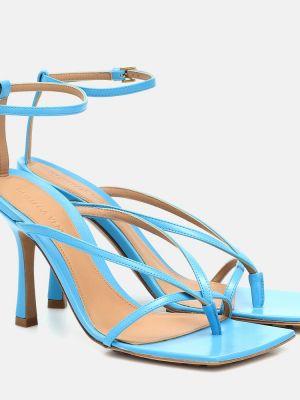 Кожаные туфли синий жёлтые Bottega Veneta