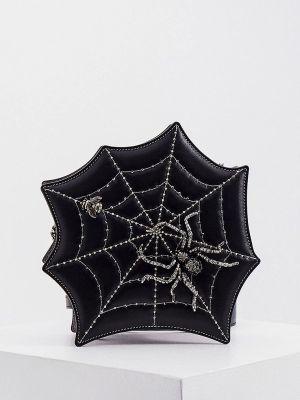 Черная кожаная сумка через плечо Braccialini