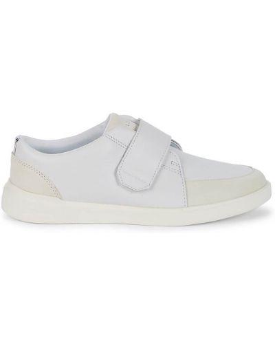 Кожаные белые кроссовки на платформе Cole Haan
