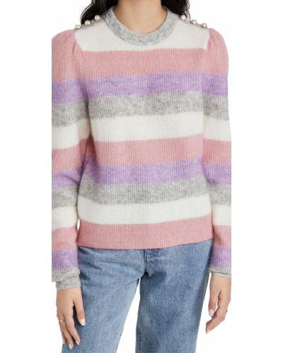 Розовый шерстяной длинный свитер с жемчугом Generation Love