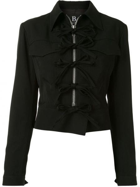 Шерстяная черная длинная куртка с воротником Yohji Yamamoto