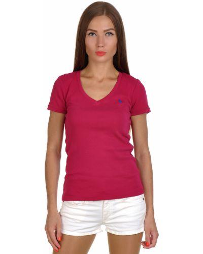 Розовая футболка хлопковая Ralph Lauren