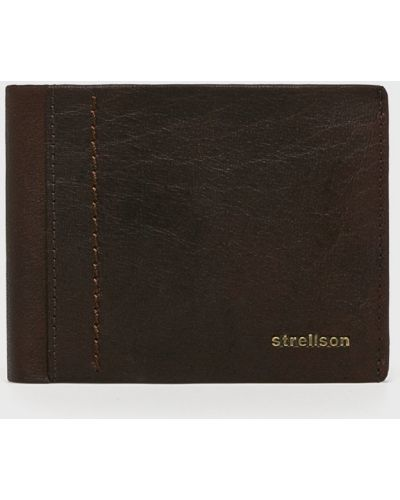 Коричневый кошелек кожаный Strellson