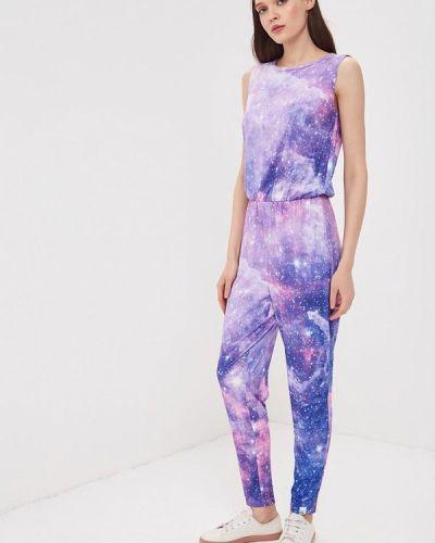 Фиолетовый брючный комбинезон Colour Pleasure