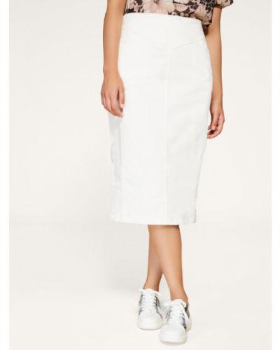 Spódnica jeansowa - biała Persona By Marina Rinaldi