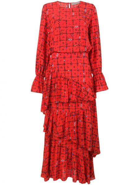 Расклешенное платье макси Preen Line