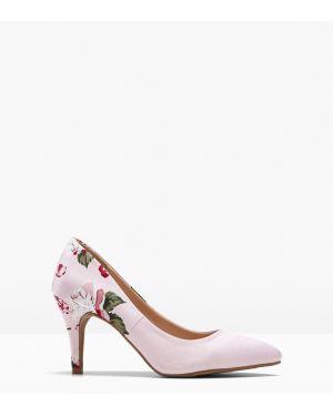 Туфли на каблуке с цветочным принтом Bonprix