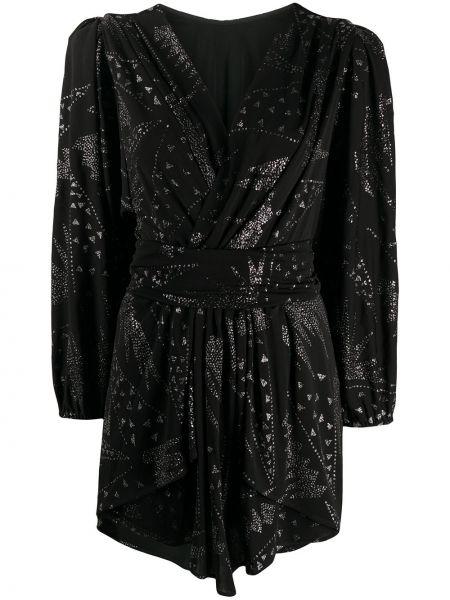Хлопковое приталенное черное платье мини Isabel Marant