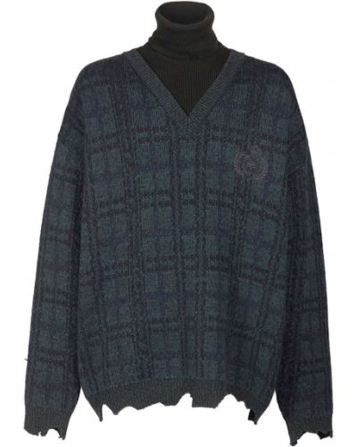 Sweter wełniany - zielony Balenciaga