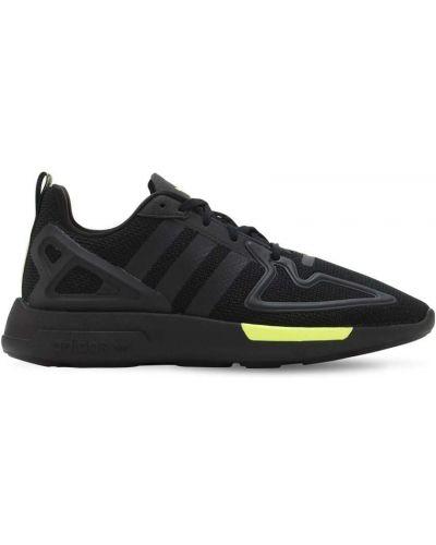 Ażurowy czarny sneakersy na sznurowadłach z siatką Adidas Originals