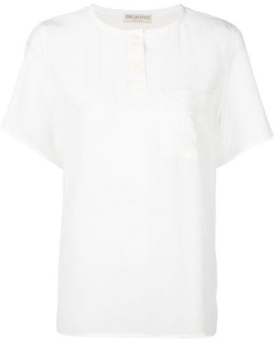 футболка с вышивкой на нагрудном кармане Emilio Pucci