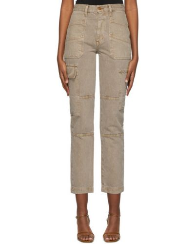 Синие джинсы стрейч с заплатками Slvrlake