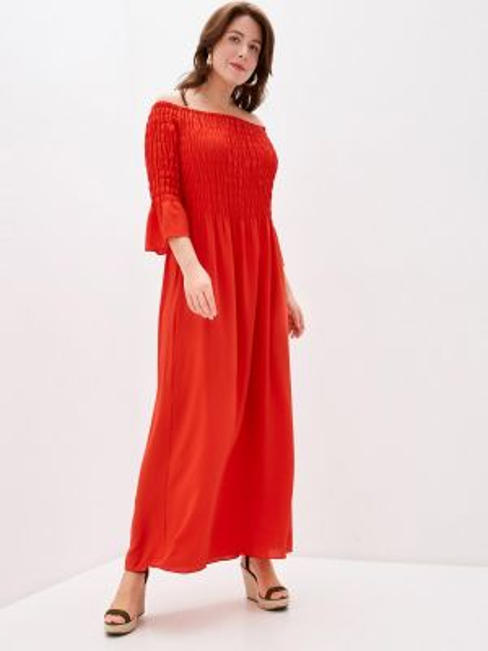 Повседневное платье красный весеннее Keyra