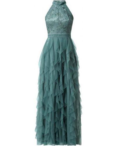 Zielona sukienka wieczorowa rozkloszowana tiulowa V.m.