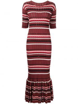 Хлопковое платье макси - красное Adam Lippes
