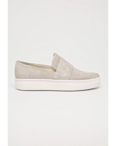 Кожаные кроссовки замшевые текстильные Vagabond