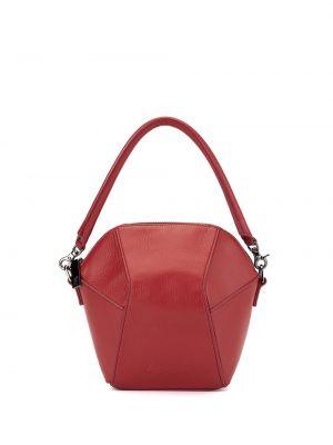 Кожаная красная сумка через плечо с перьями на молнии Discord Yohji Yamamoto