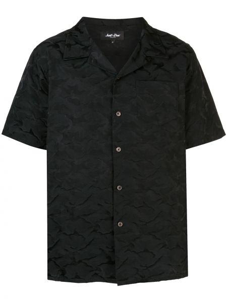 Czarna koszula krótki rękaw bawełniana Just Don