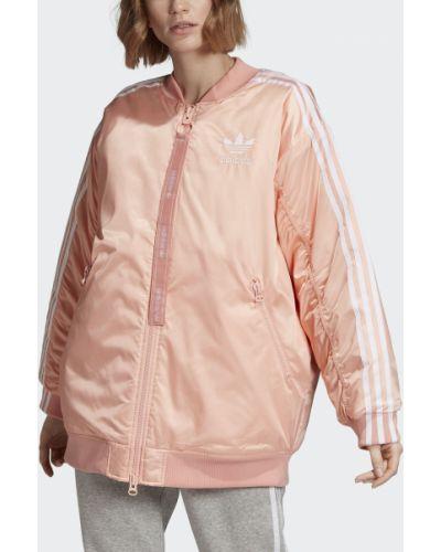 Утепленная куртка длинная оверсайз Adidas