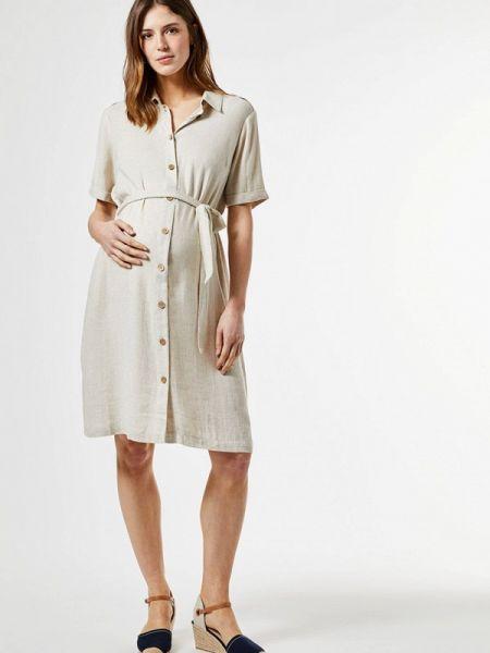 Платье для беременных прямое бежевое Dorothy Perkins Maternity