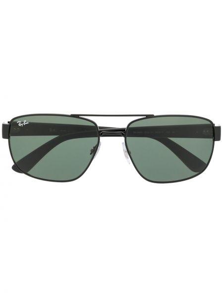 Czarny oprawka do okularów metal prostokątny Ray-ban