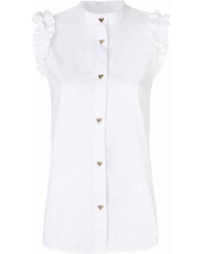 Белая рубашка Love Moschino