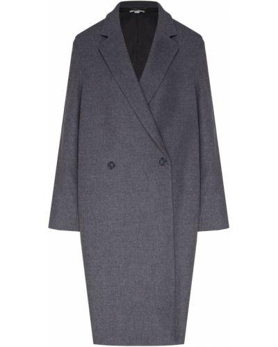Пальто серое шерстяное Stella Mccartney