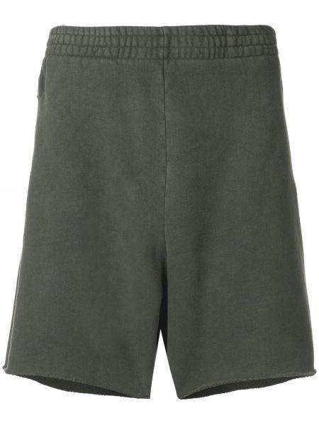 Zielone krótkie szorty bawełniane Yeezy