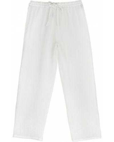 Białe spodnie materiałowe Dusan