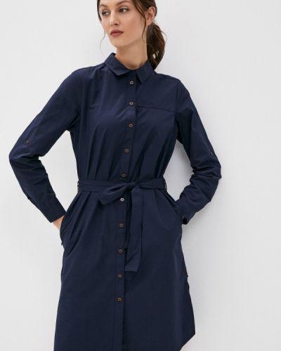 Синее платье-рубашка Jack Wolfskin