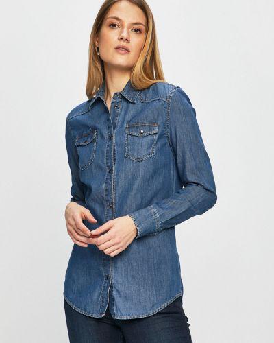 Блузка с длинным рукавом хлопковая с манжетами Trussardi Jeans