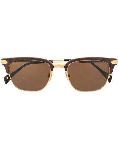 Brązowe złote okulary Stefano Ricci