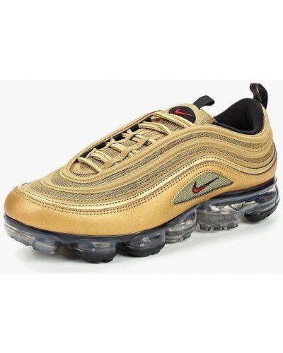 Кроссовки низкие золотого цвета Nike