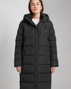 Зимняя куртка утепленная черная Tom Tailor Denim